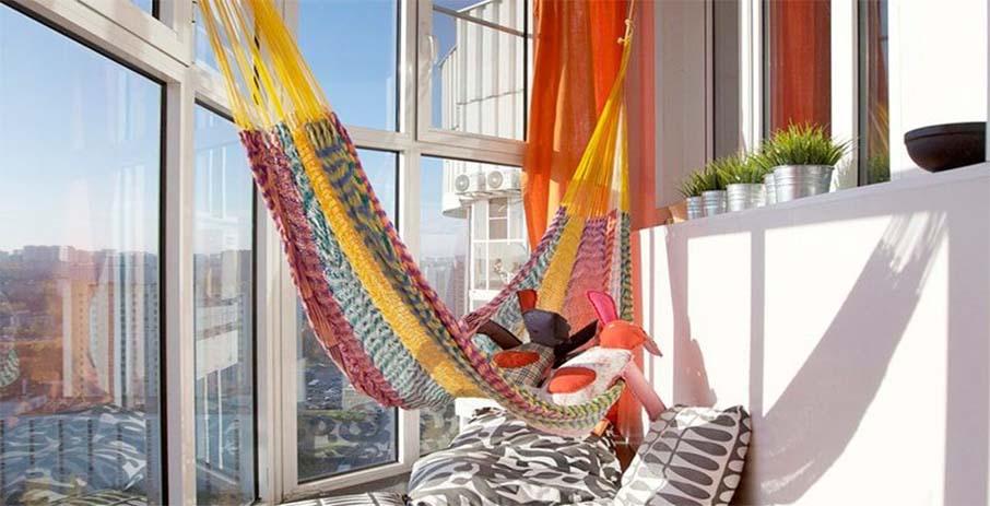 Гамак для балкона - идеальное решение для квартиры