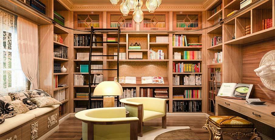 Идеи оформления семейной библиотеки